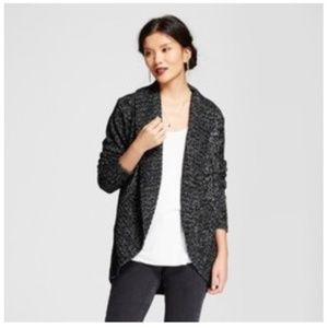 a new day Black & Gray Cozy Cardigan Size M  NWOT